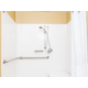 ADA/Hearing Accessible Queen Suite Bathroom with roll-in shower