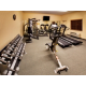 Our large fitness center features free weights and cardio machines
