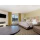 Very spacious king bed studio suite.