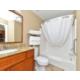 Sleeping room bathroom