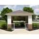 Gazebo with Seating and Grill