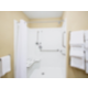 ADA Handicapped accessible Guest Bathroom with roll-in shower