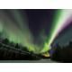 Aurora viewing at Alaska Pipeline near Candlewood Suites Fairbanks