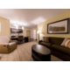 1 queen 1 bedroom suite living room with couch and recliner