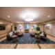 Comfortable lobby seating at Candlewood Suites Fairbanks Alaska.