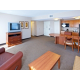 Stretch out and enjoy microwave popcorn in our spacious suites!