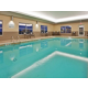 Indoor heated, salt water pool with deepest side of 5 feet