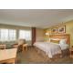 Enjoy the larger king suite