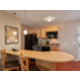 Kitchen and dining area in our Suite