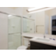Spacious bathroom with all the comforts of home