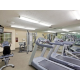 Fitness Center with treadmill bike and free weights