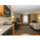 One king bed, kitchen, work desk, recliner, TV and DVD player