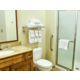 Sparkling clean bathroom with shower