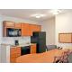 kitchen in one queen bedroom suite