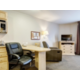 Studio Suites feature comfortable work and sitting areas.