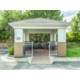 Gazebo with gas grills and seating for guest use.