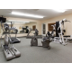 Stay on track with your fitness goals in our 24 hour fitness room