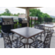 Gazebo with gas grills, grilling utensils available at front desk