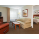 King Suite with separate bedroom, full sized sleeper sofa