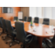 Executive Boardroom with solid oak table and leather chairs