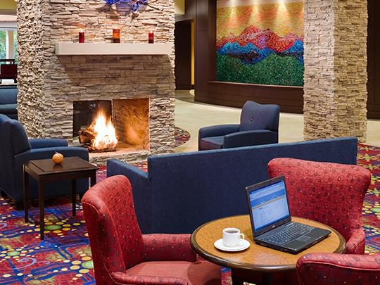 The Lobby Lounge features a warm and inviting atmosphere!