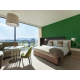 Chambre Club à grand lit avec vue sur la ville ou sur la montagne