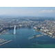 Le Lac Léman avec le Jet d'eau