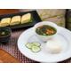 Japanese Breakfast in the restaurant