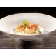 Arborio rice risotto with roasted scallops, restaurant BRG