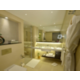 Newly renovated contemporary guest bathroom