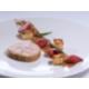 Terrine de foie gras de canard, fraises façon chutney et brioche