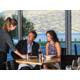 Enjoy lake views at threesixty Restaurant