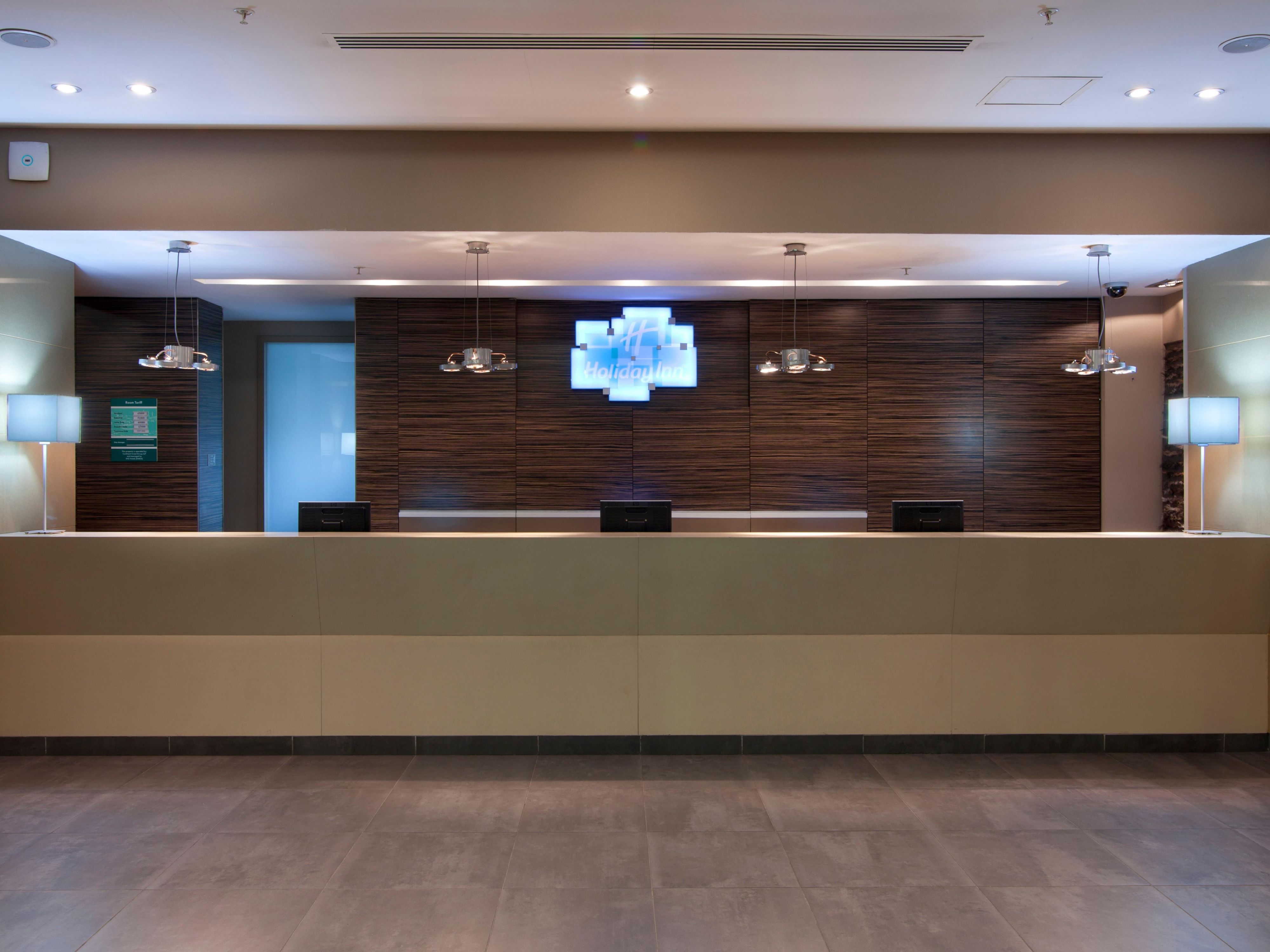 Welcome front desk reception at Holiday Inn Almaty