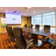 Spacious boardroom for executive meetings