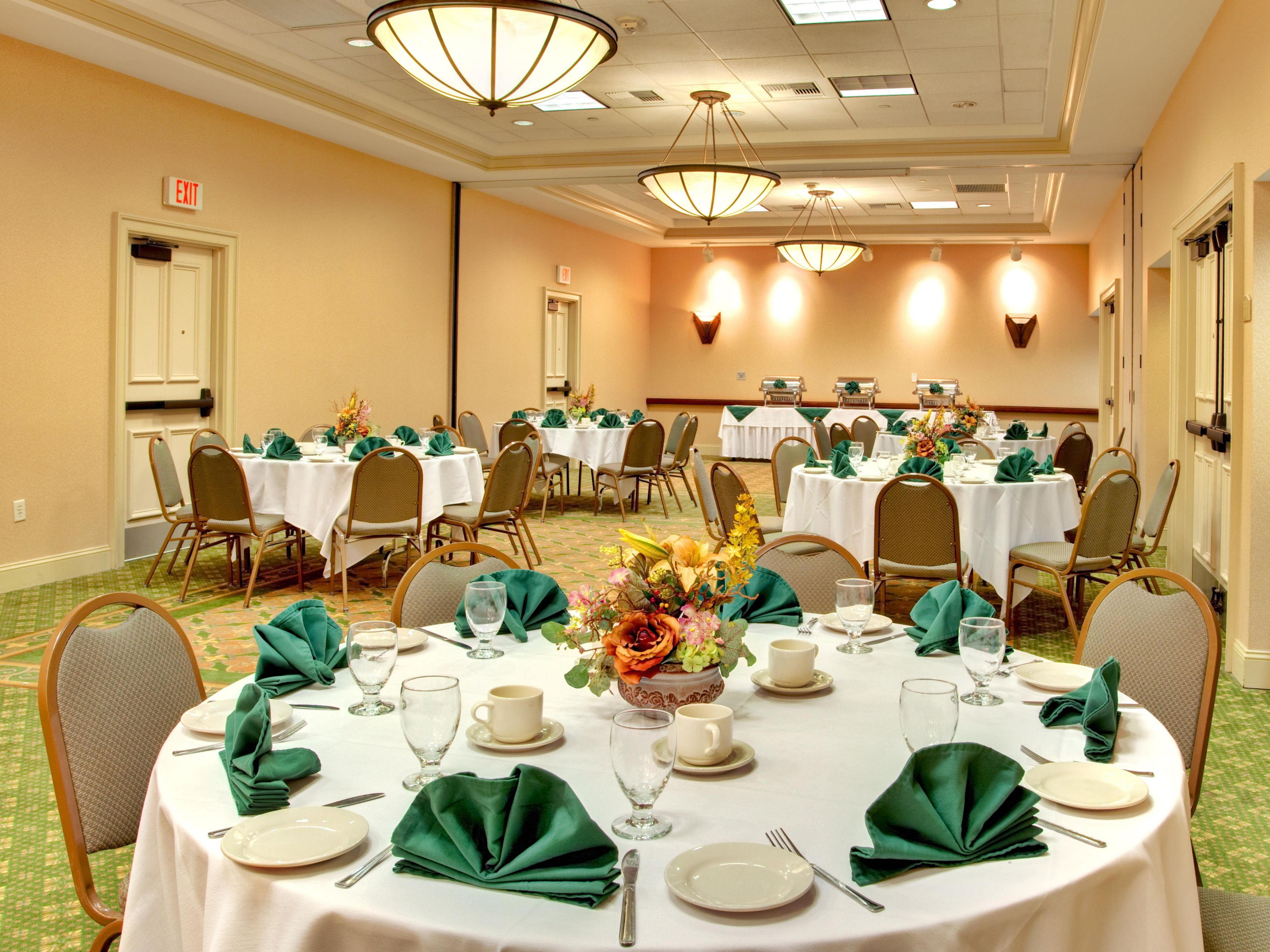 Our catering team will service your banquet or reception