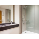Newly renovated bathroom with walk in shower