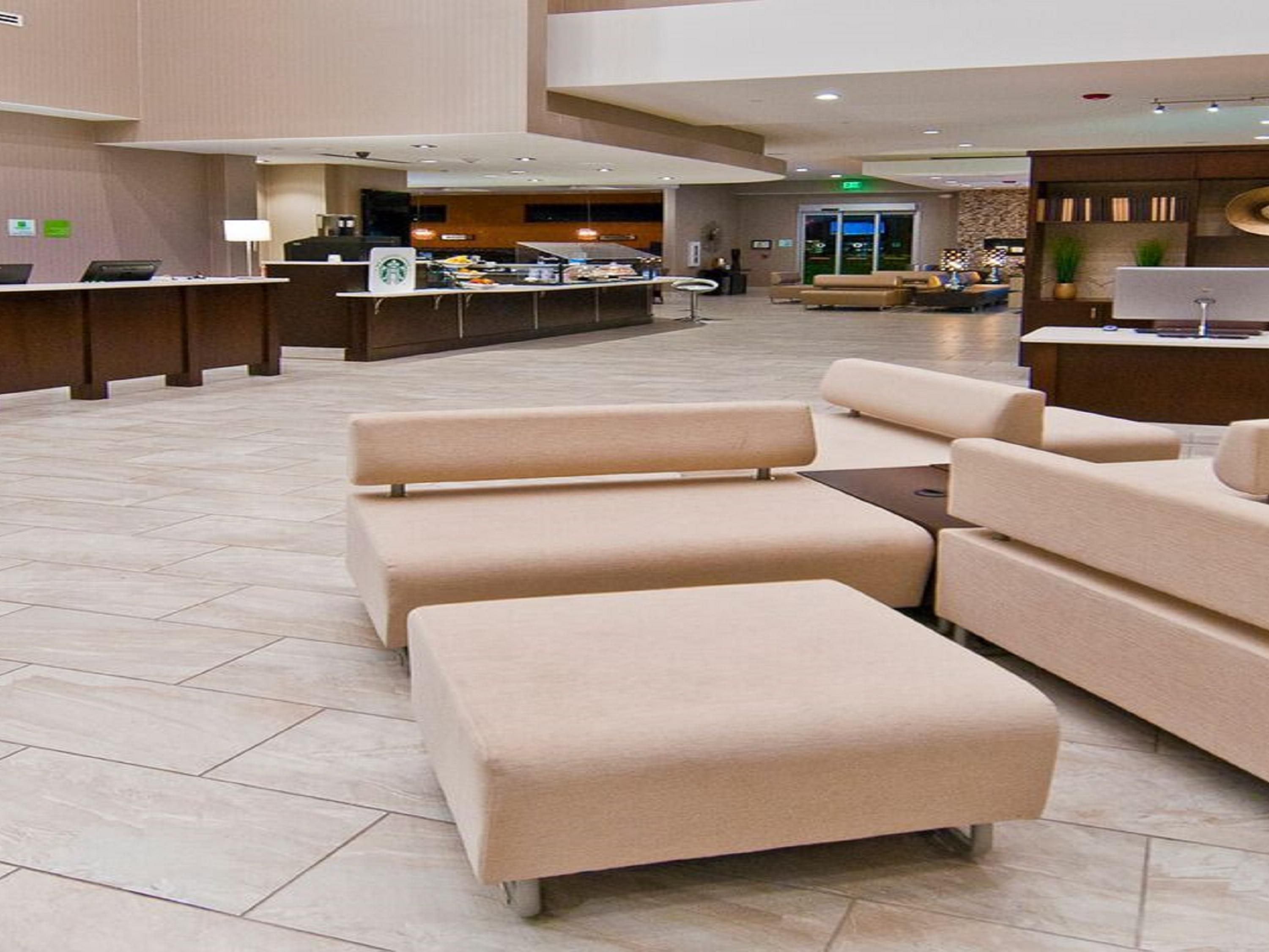 Take a break in our spacious lobby