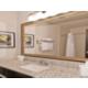 Spacious vanity area