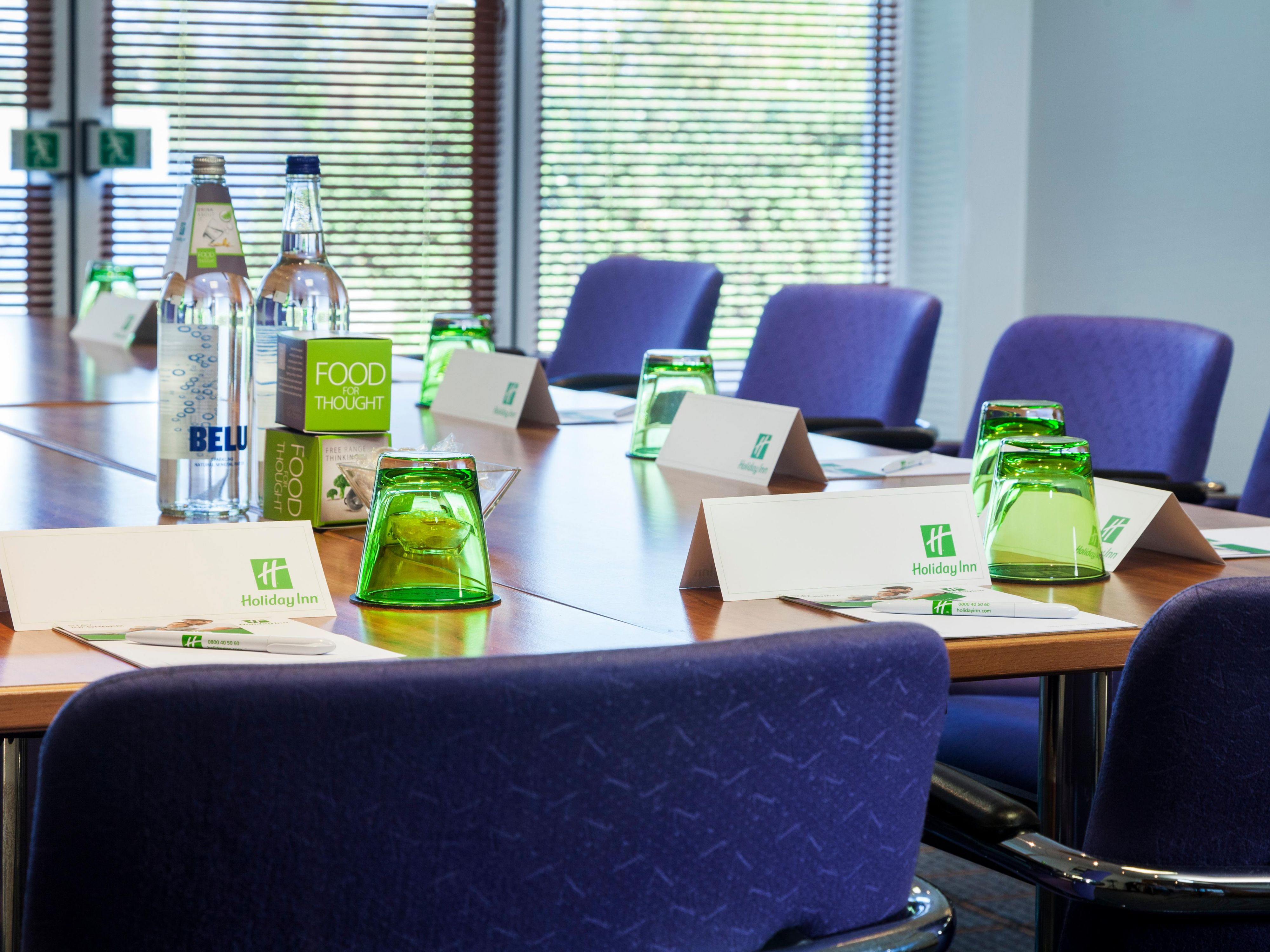 Our conference rooms can be set to many different set ups