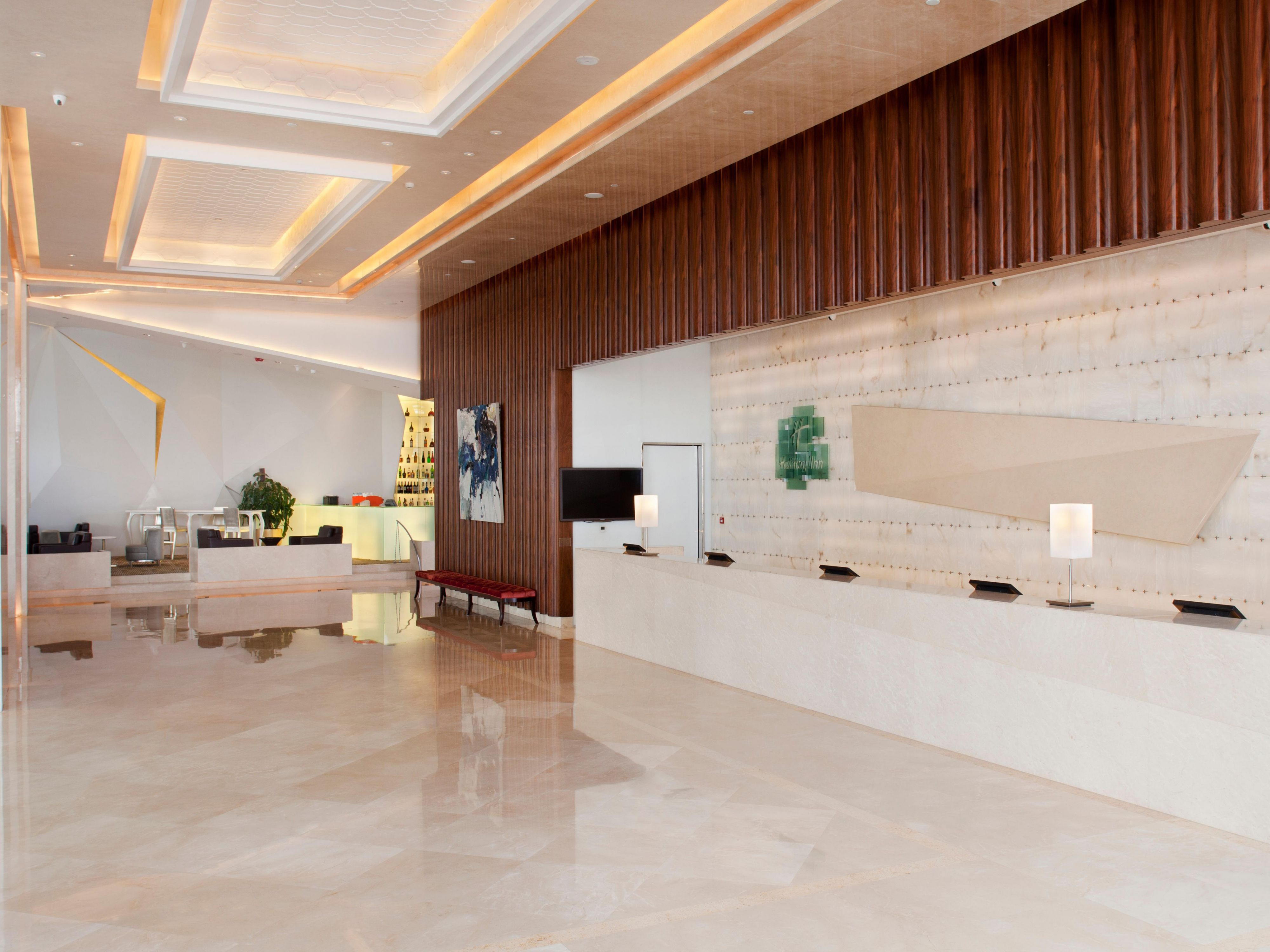 modern and fresh designed lobby