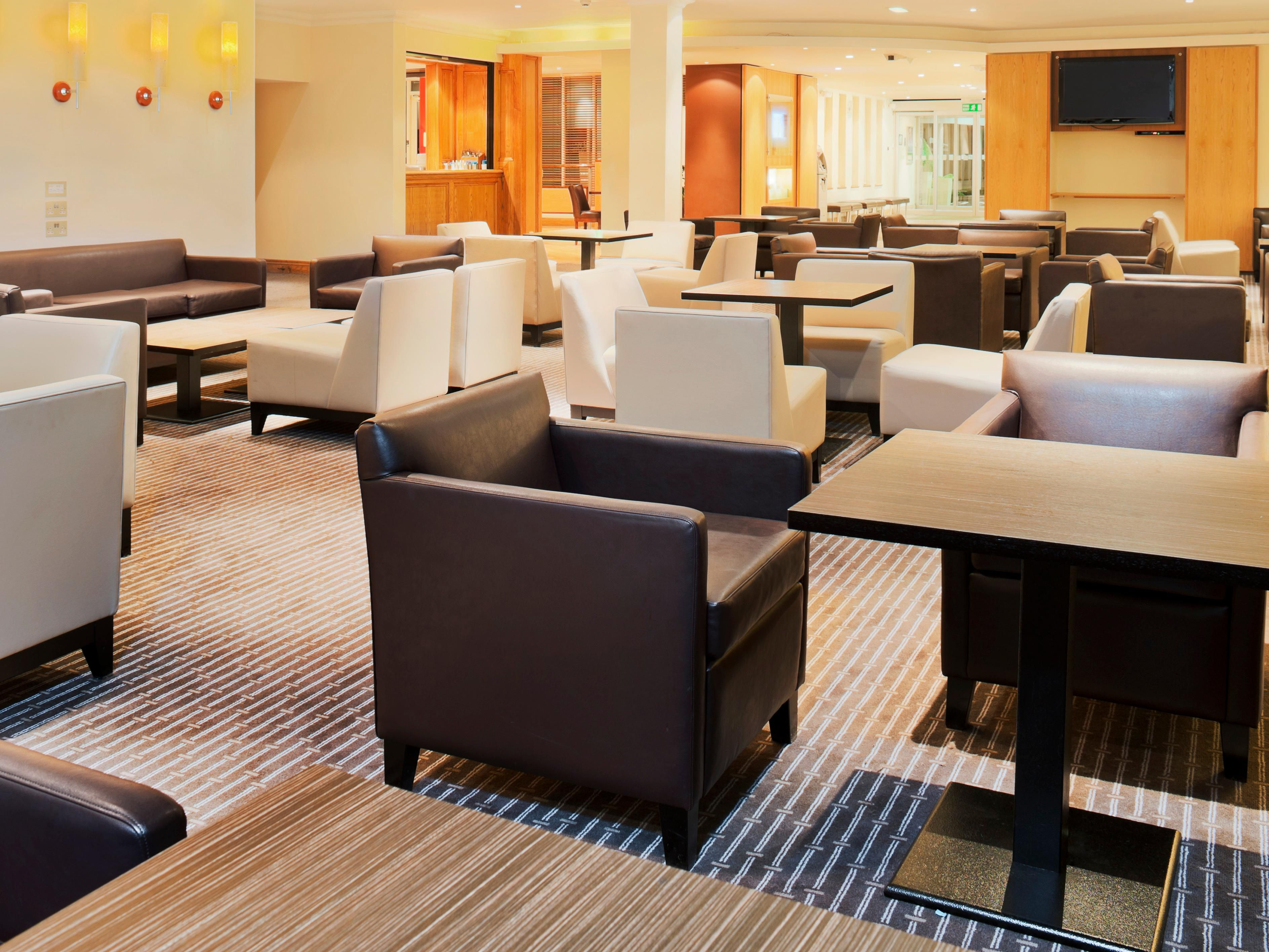 Our lounges are great for a business meeting or a relaxing drink