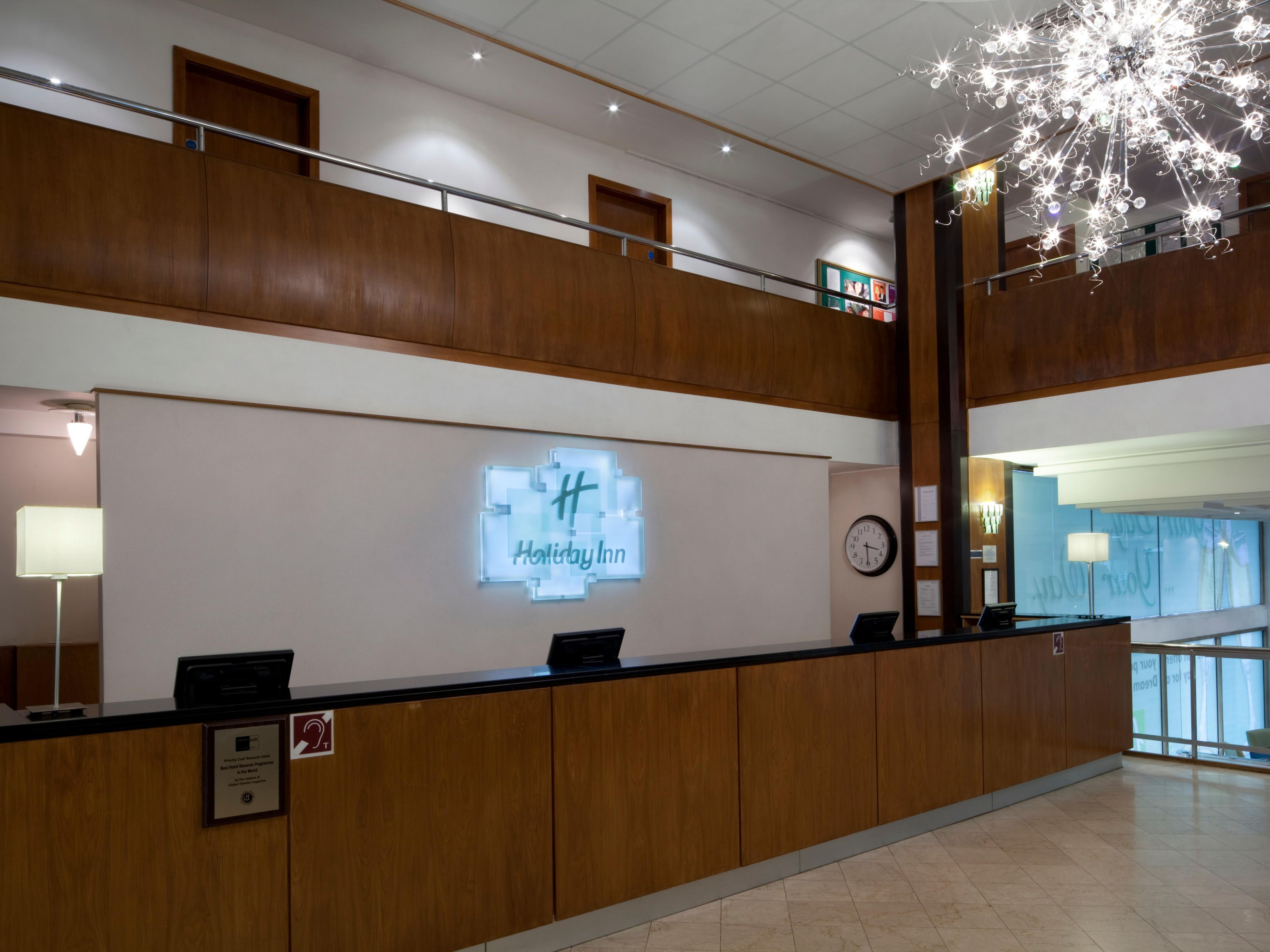 Reception welcomes you to The Holiday Inn Birmingham City Centre