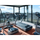 You can run, watching airplanes in our fitness center