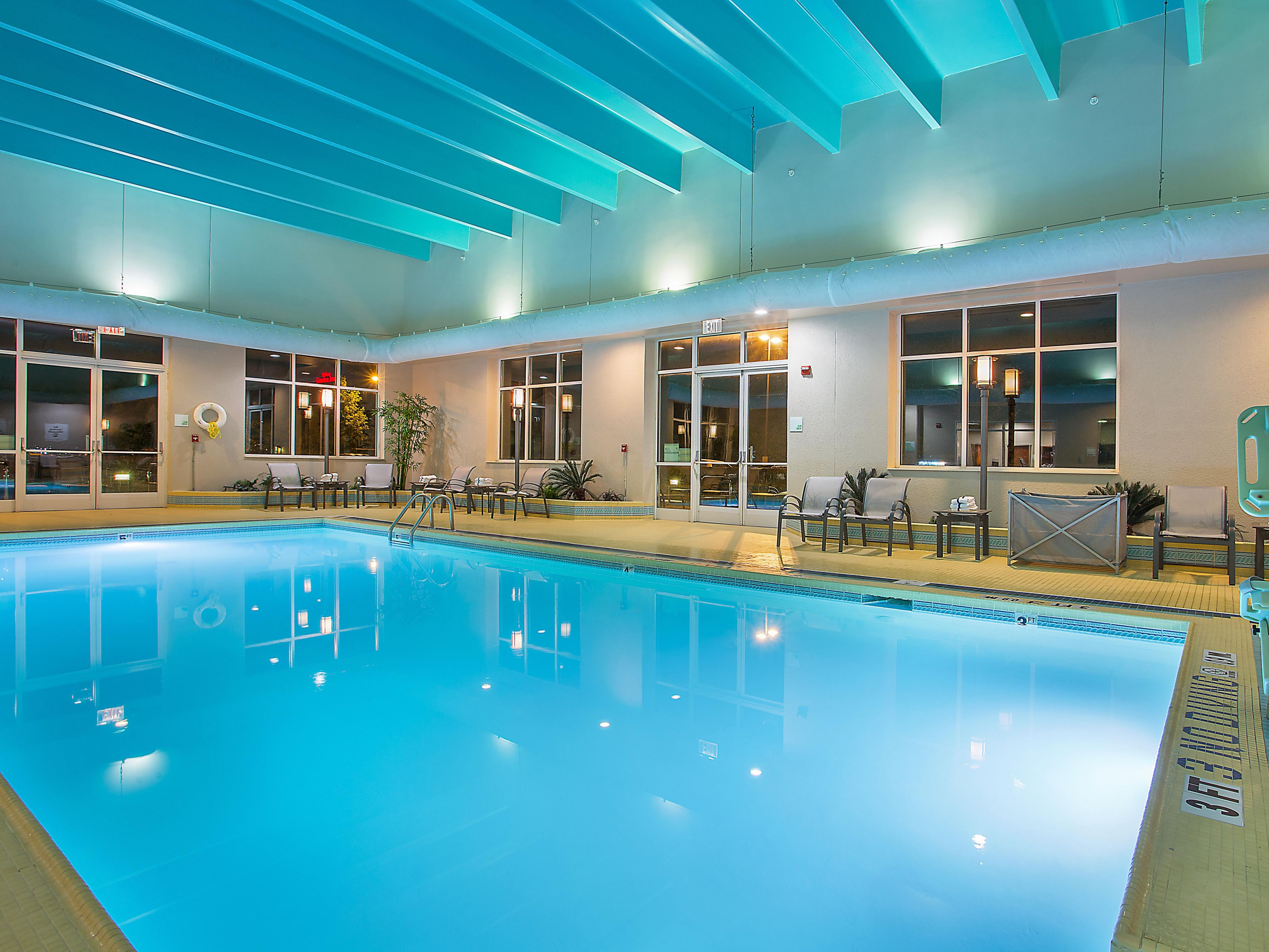 Start your day with a relaxing swim in our indoor, heated pool.