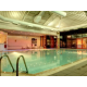 Our Indoor Heated Swimming Pool at Night in the Spirit Health Club