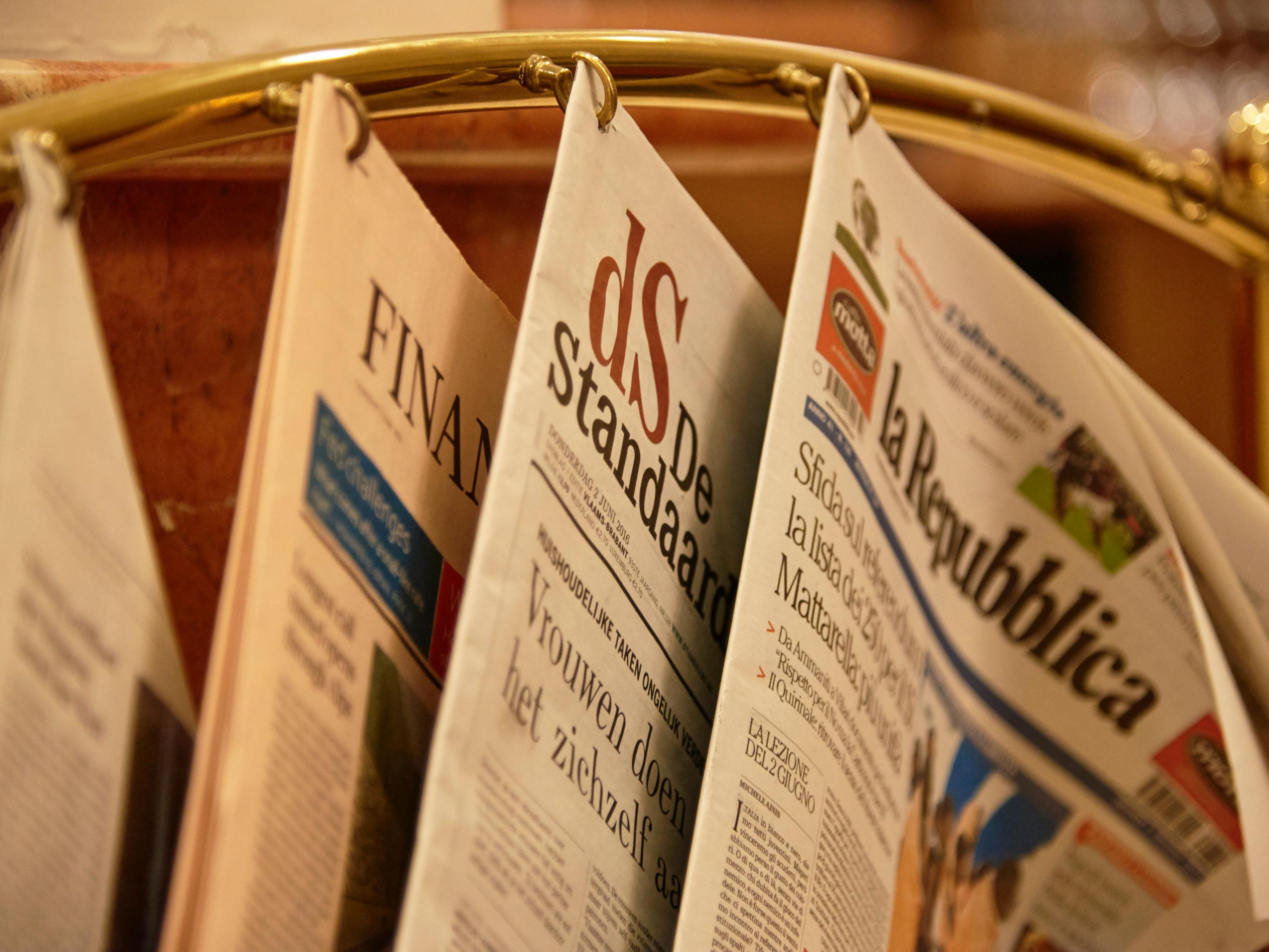 Daily newspapers available