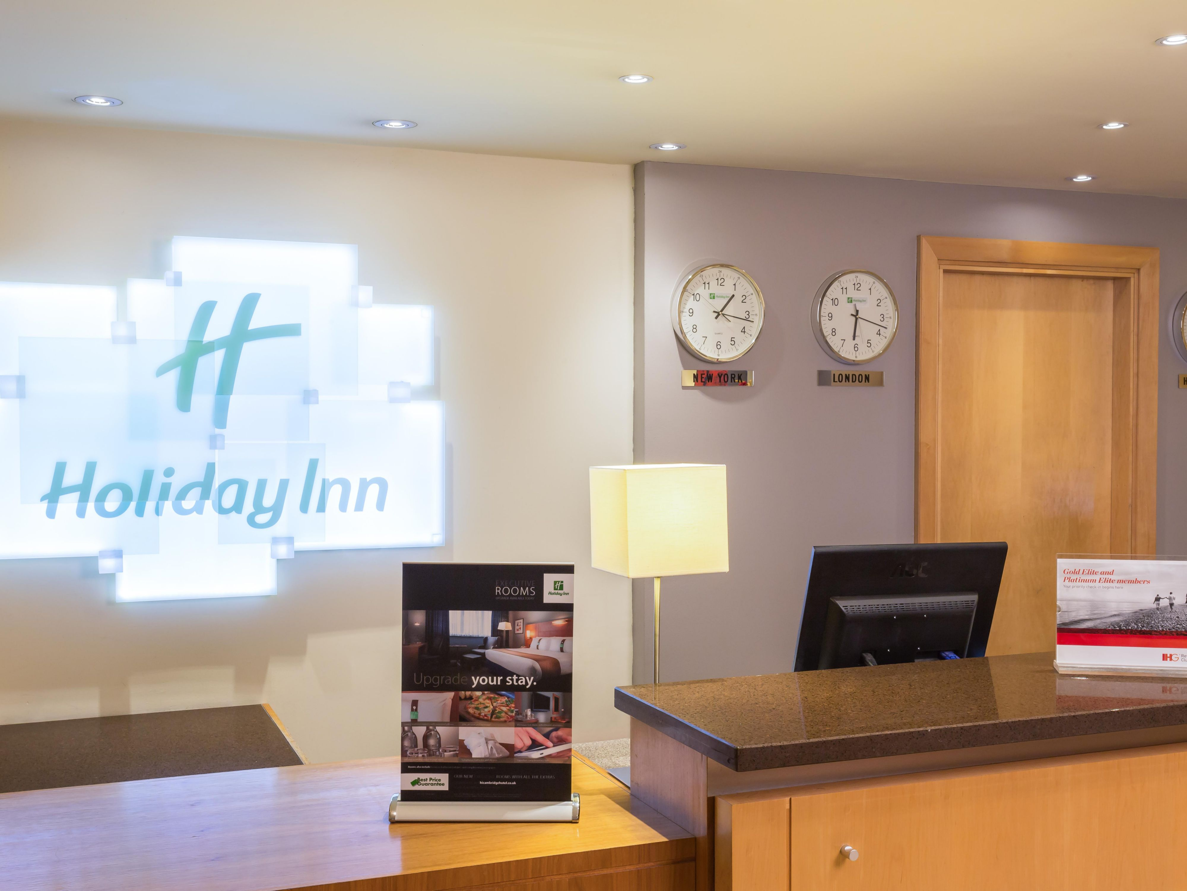 Check in at our inviting Front Desk