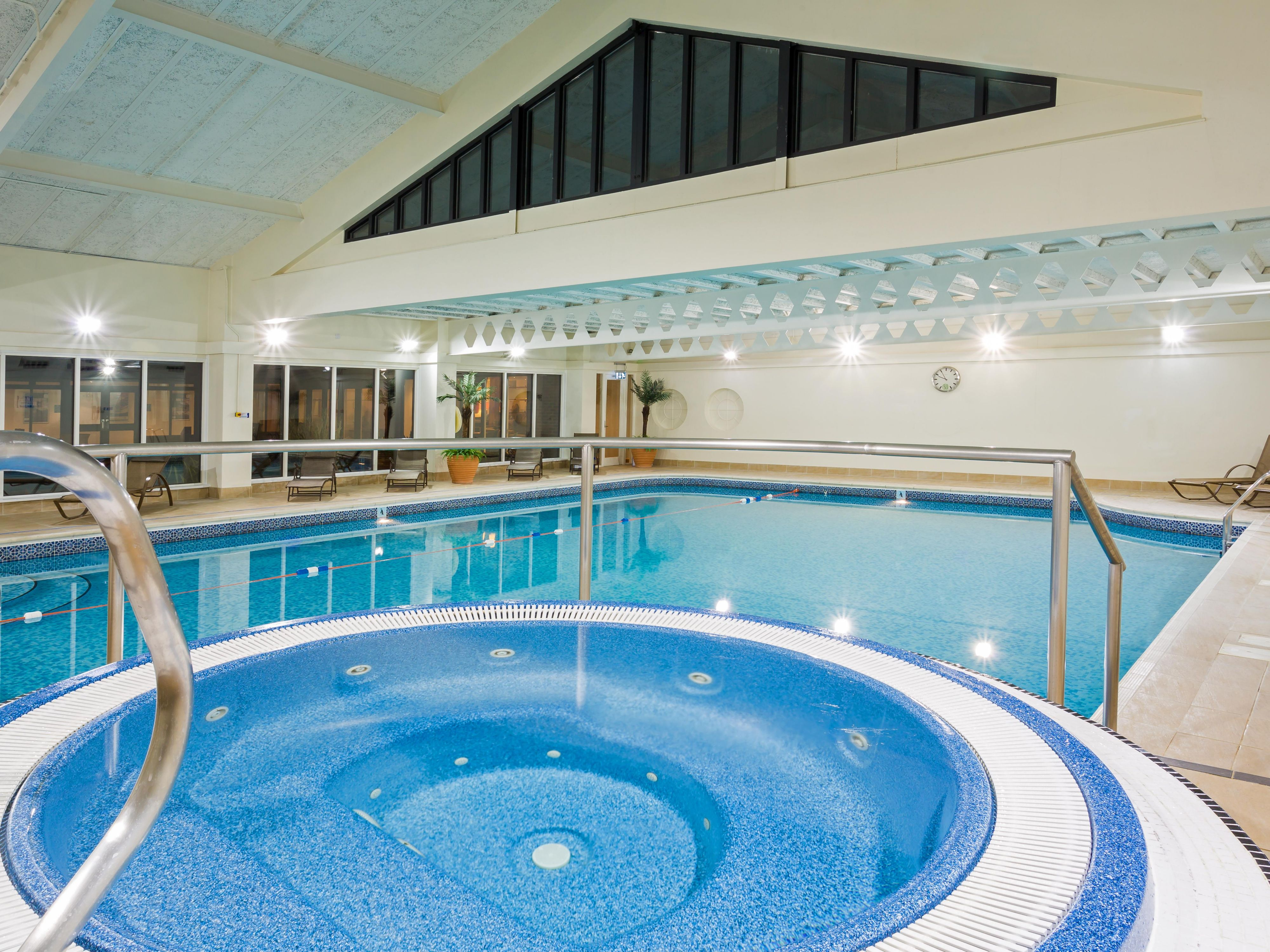 Enjoy a long soak in our stunning indoor Pool