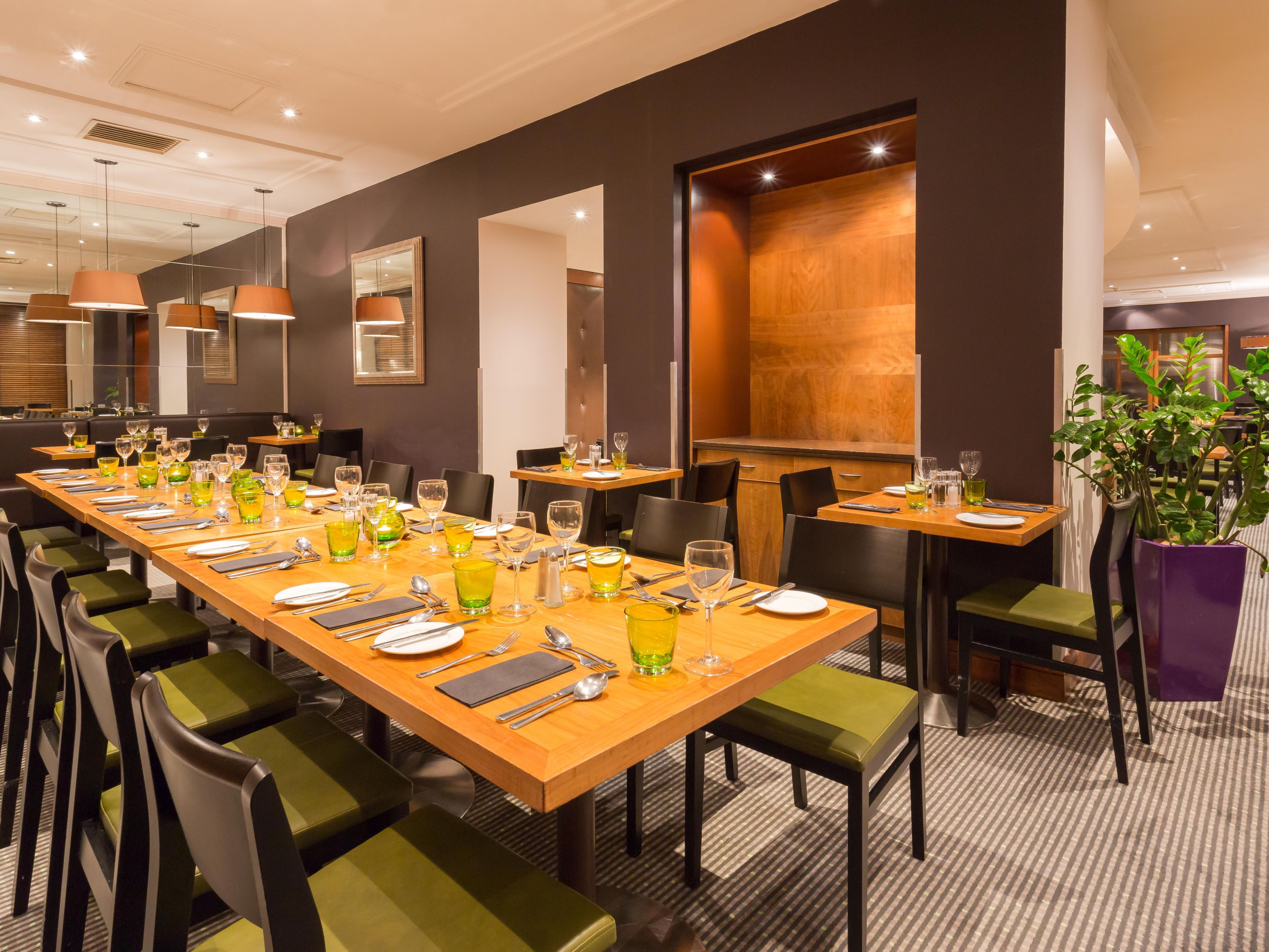The Restaurant offers communal tables for your family dinners