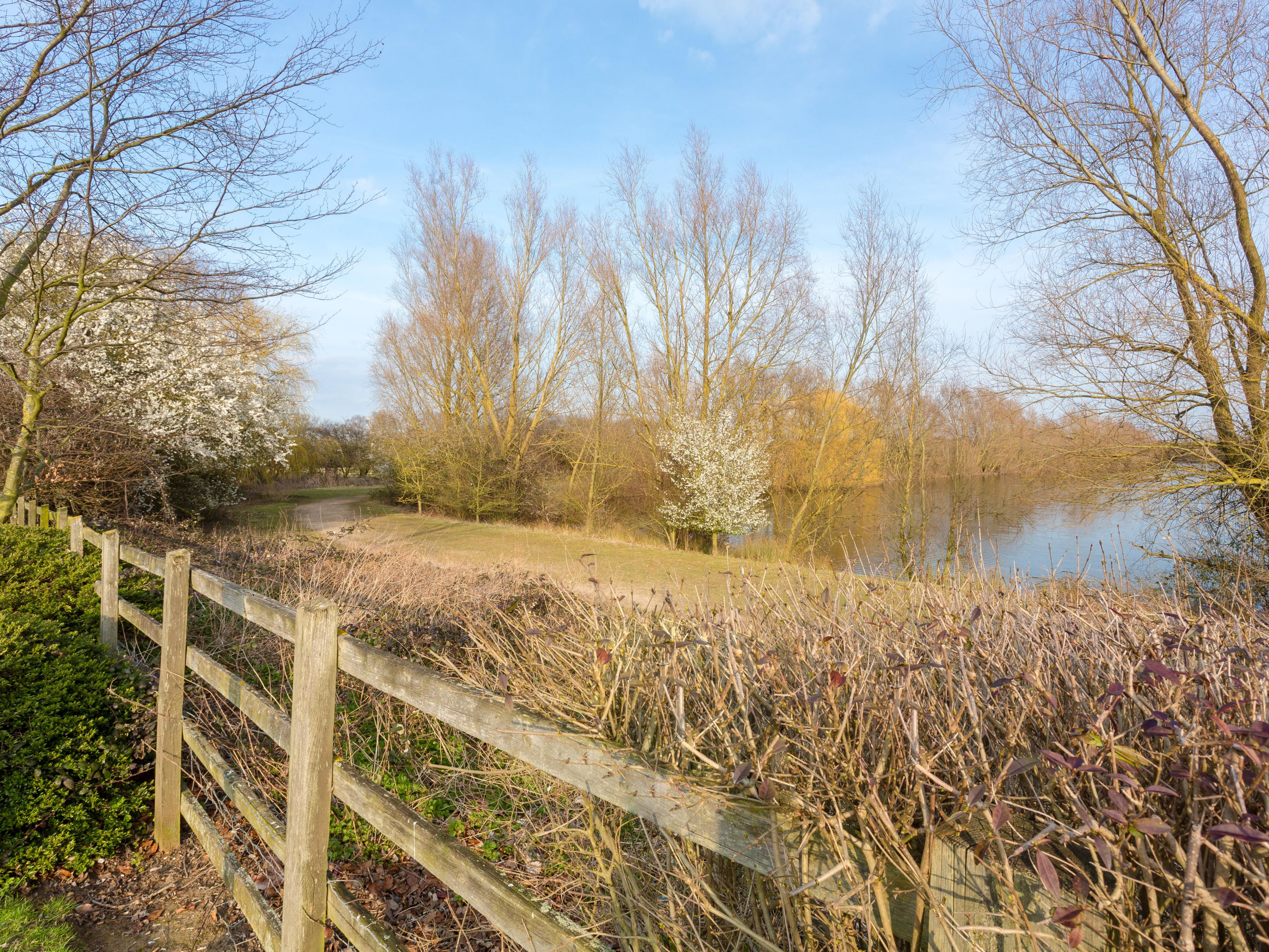 Take a stroll to the nearby Chivers Lake